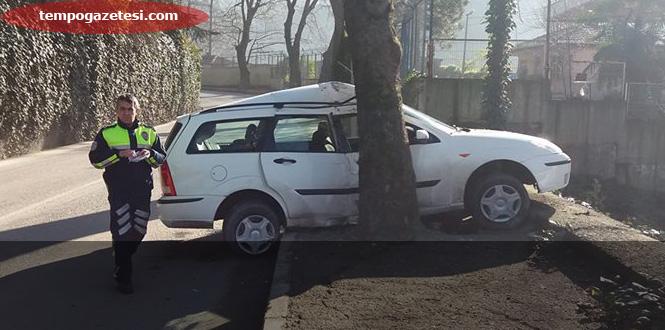 Çınartepe'de trafik kazası...
