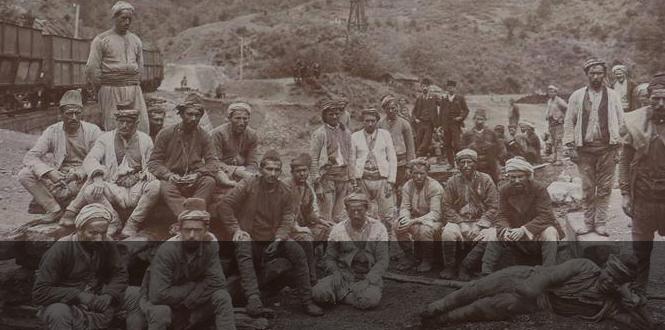 1913 Osmanlı Ereğli Şirketi... Yerli Madencileri...