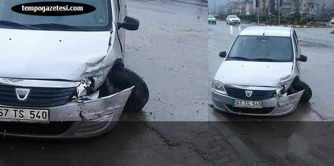 Trafik kazası, bir çocuk yaralandı...