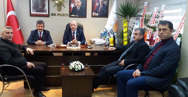 Eroğlu ve Demir, Tosun'u ziyaret etti
