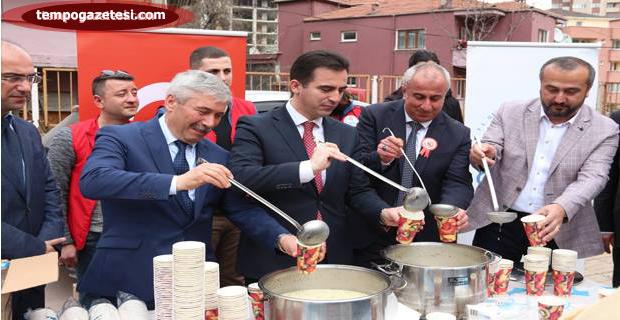 """Çanakkale askerinin """"Kırk Buğday"""" çorbasını içtiler"""