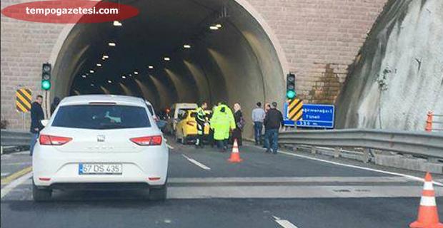 Kozlu'da kaza…Ambulans ve polis ekibi olay yerinde….
