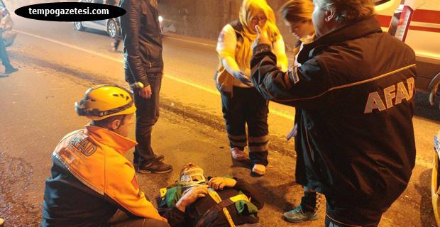 Tünelde kaza... 7 Yaralı...