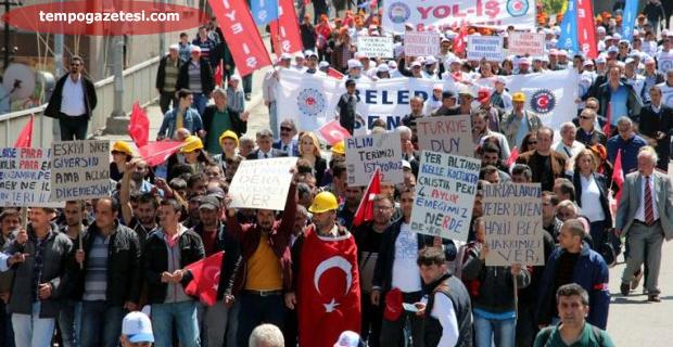 1 Mayıs coşkusu Zonguldak'ta başladı