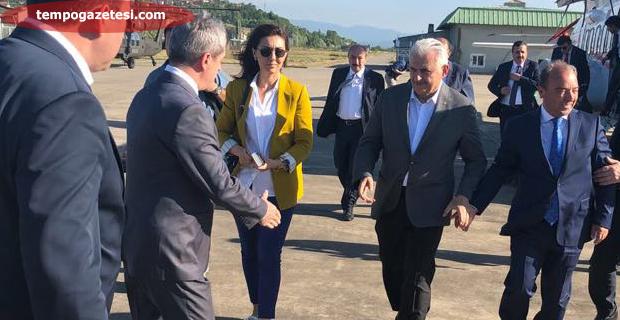 Başbakan'ı Vali Çınar uğurladı!..