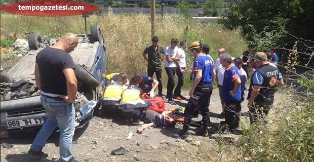 Çatalağzı'nda trafik kazası; İki kişi ağır yaralı!..
