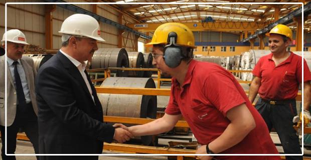 Polat Türkmen, Fabrikaları geziyor...