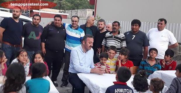 Turanlı, Çınartepe'de iftarını açtı...