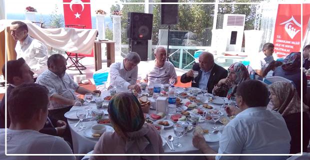 Şehit Aileleri ve Gaziler yemekte bir araya geldi...