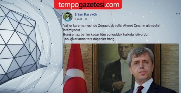 """""""Vali Çınar'ın gitmesini istemiyoruz"""""""