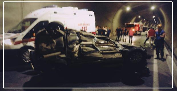 Yeni tünelde kaza... Bir kişi ağır yaralı