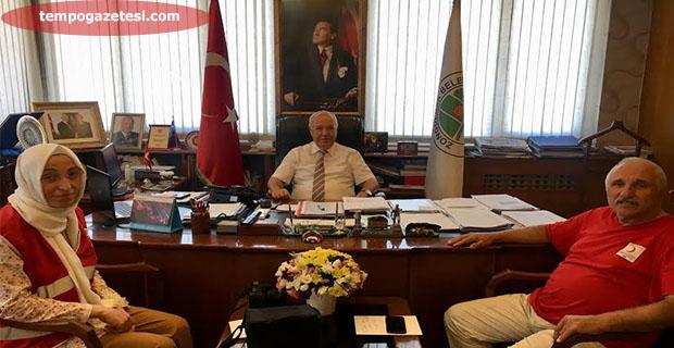 Başkan, Vekaleti verdi. Aygün'den teşekkür ziyareti