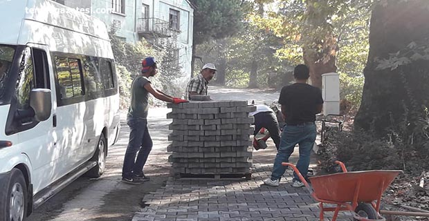 Çınartepe'de parke çalışmaları başladı