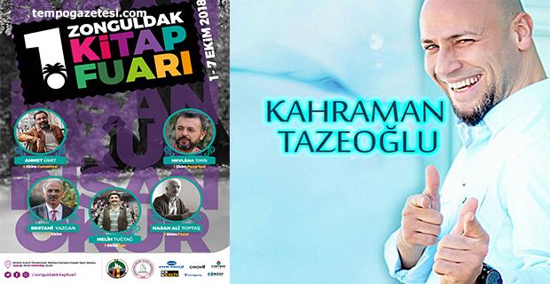1. Zonguldak Kitap Fuarı düzenlenecek!.. Kahraman TAZEOĞLU geliyor!..