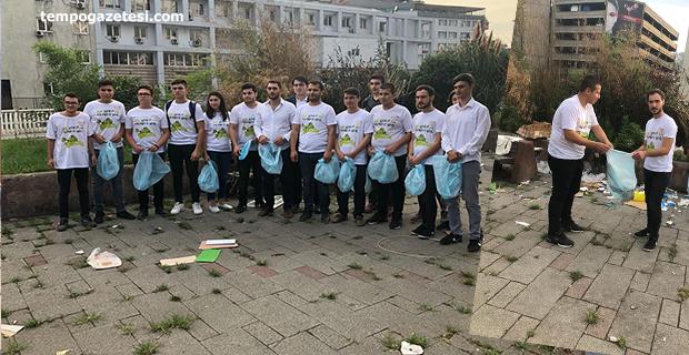 AK Gençlikten çevre temizliğine destek!..