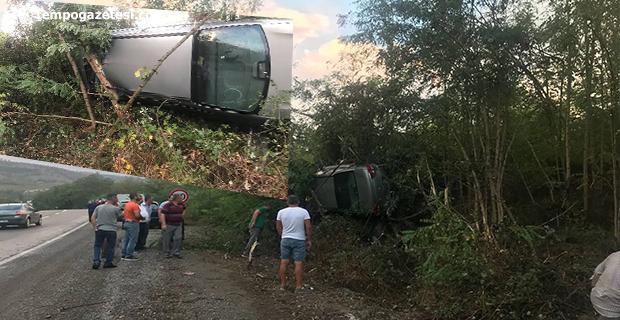 Trafik Kazası; Bahçeye uçtu!..