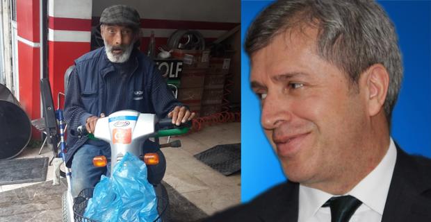 Vali Ahmet Çınar, engelli vatandaşa sahip çıktı…
