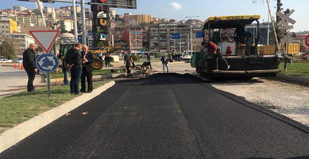 Uğur Mumcu'da asfalt çalışması!..