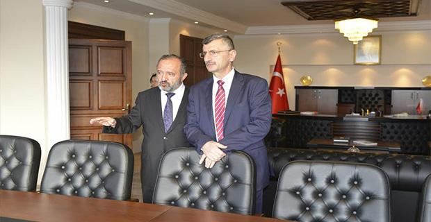 Vali Bektaş'den Rektör Çufalı'ya ziyaret!...