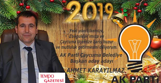 Ahmet Karayılmaz, yeni yılı kutladı...