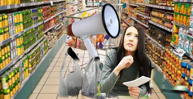 Dışardan poşet getirmeyin anonsu müşterileri çıldırttı…