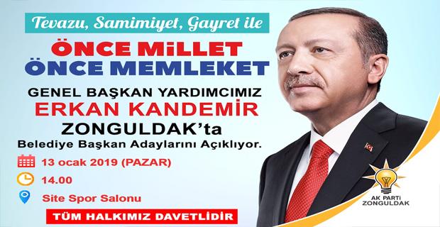 İl Başkanı Zeki Tosun'dan davet var...