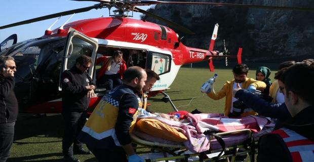 112 helikopteri 53 yaşındaki hasta için havalandı
