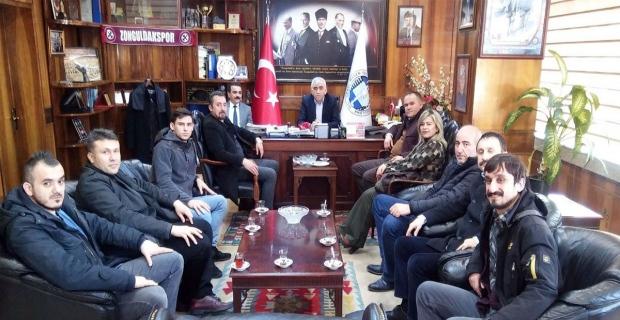 Merkez servisleri şubesi, Başkan Demirci ile bir araya geldi