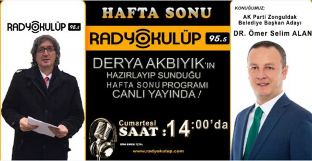 Selim Alan, Radyo Kulüp'ün konuğu olacak…