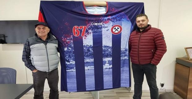 Zonguldaklı iş adamından dev Kömürspor forması