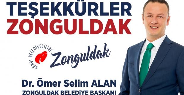 ALAN: 'Teşekkürler Zonguldak'
