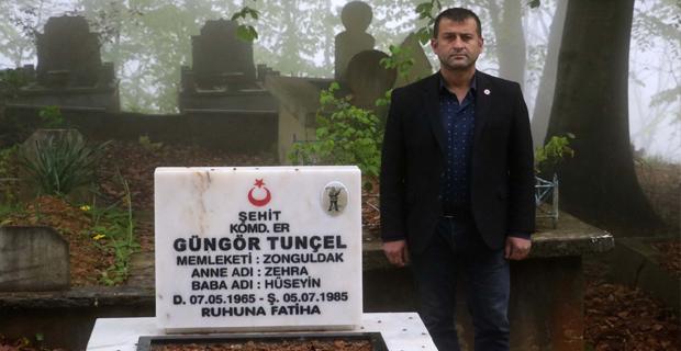 Emniyet Müdürü, Şehit mezarını yaptırdı