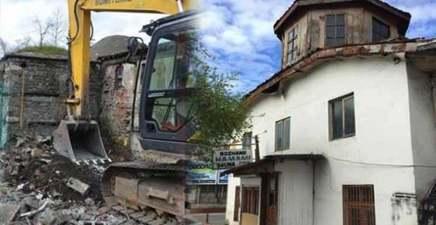 Tarihi hamam neden yıkılıyor?