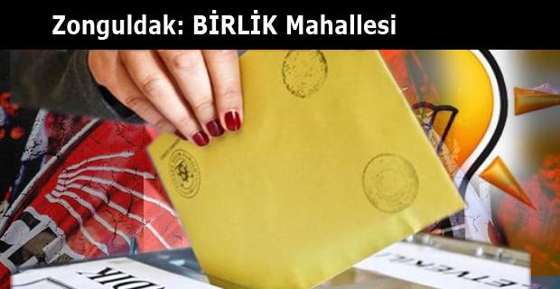 Zonguldak: BİRLİK Mahalle sonuçları