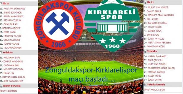 Zonguldakspor, Kırklarelispor'u gençleriyle devirdi...