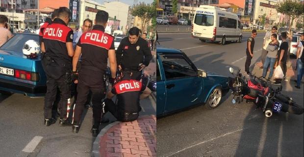 Ehliyetsiz sürücü Yunus ekibine çarptı, 2 polis yaralandı...