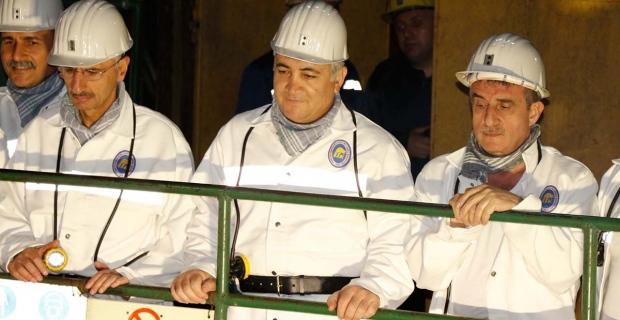 Enerji Bakan Yardımcısı Cansız, iftar için maden ocağına indi