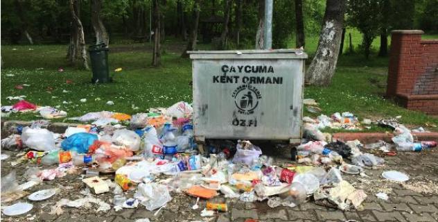 Kent Ormanı çöplüğe döndü
