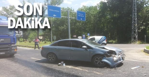 O kavşakta yine kaza