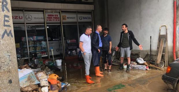 Başkan Keleş'ten zarar gören esnaflara ziyaret