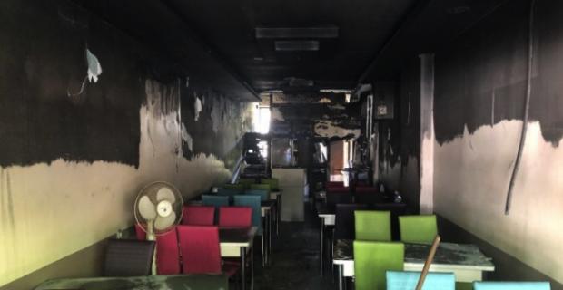 İşyerinde yangın; Kullanılamaz hale geldi