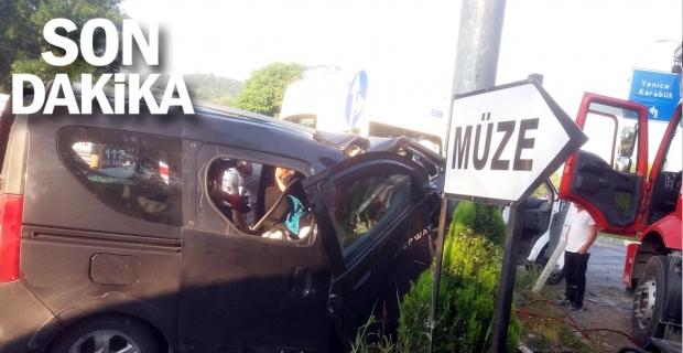 Zonguldak kaza: 2 ölü, 4 yaralı