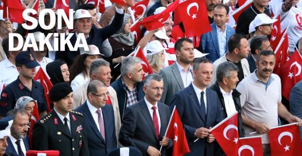 Zonguldak'ta 15 Temmuz yürüyüşü