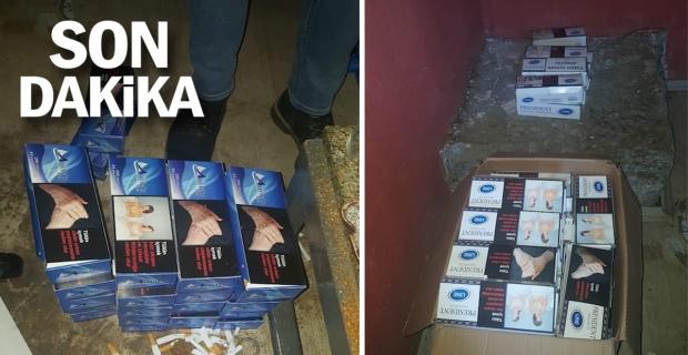 Alaplı'da kaçak sigara operasyonu