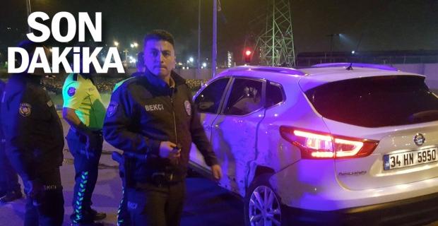 Alkollü cip sürücüsü, otomobile çarptı