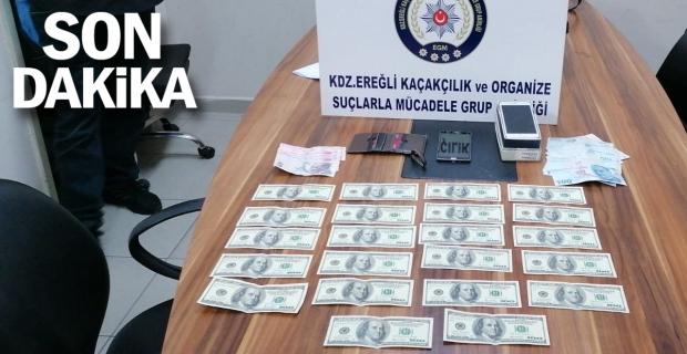 Ereğli'de sahte dolar operasyonu