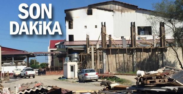Fındık fabrikasındaki yangının hasarı gün ağarınca ortaya çıktı