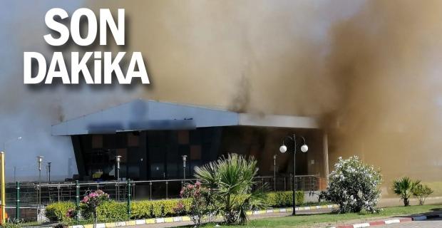 Havaalanı Müdürü'nün restoranı yandı