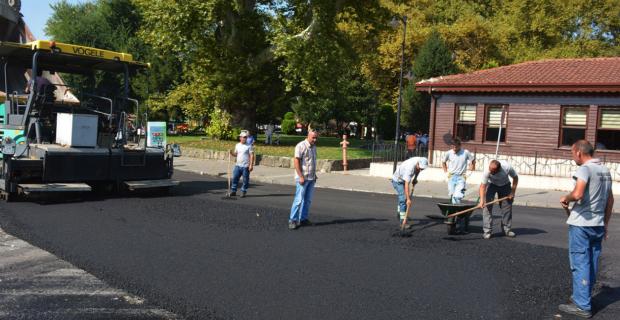 POSBIYIK asfalt çalışmalarını denetledi