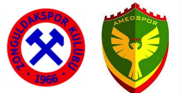 İlk yarı bitti... Zonguldak Kömürspor: 0 Amedspor: 0